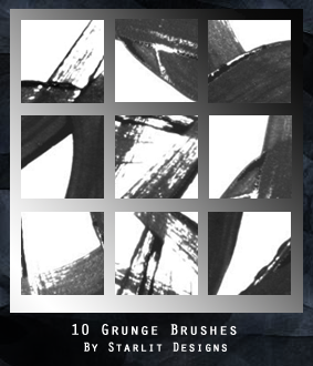 10 Grunge Brushes by mystique87