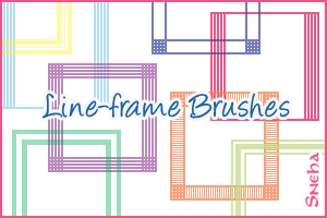 Line-frame brushes-100 x 100 by mystique87