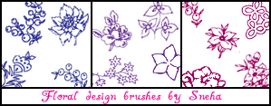 Floral design brushes by mystique87