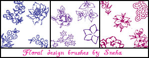 Floral design brushes