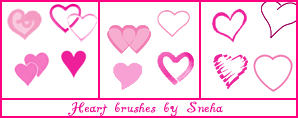 Heart brushes by mystique87