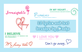Lyrics and text brushes 3 by mystique87