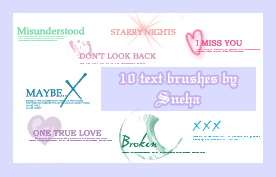Text brushes by mystique87