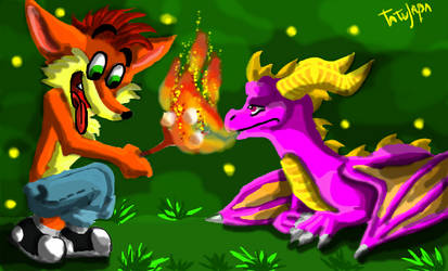 Crash and Spyro :Tatujapa by Tatujapa
