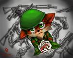 Crash Bandicoot :White Rose by Tatujapa