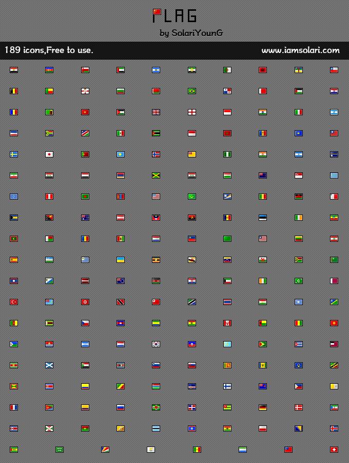 189 Nation Flag_16X12