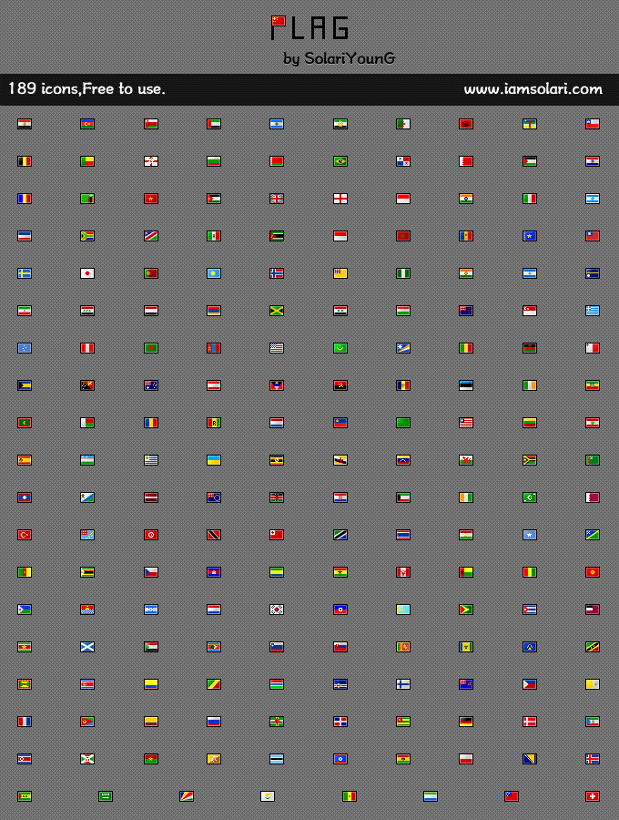 189 Nation Flag_16X12 by solariyoung