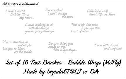 McFly - Bubble Wrap Brushes by impala67