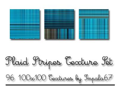 Plaid Stripes Texture Set by impala67