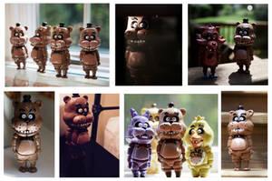 Freddy Fazbear Figurines (SOLD OUT) by CassowaryRoom