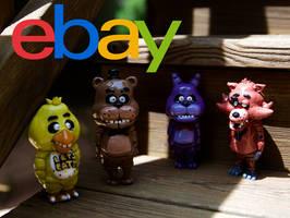 (SOLD OUT) FNAF Figurines on Ebay by CassowaryRoom
