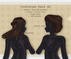 mmd victorian hair pack + p2u dl