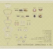 mmd victorian jewellery pack  + p2u dl