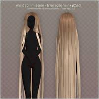 mmd commission - briar rose hair + p2u dl