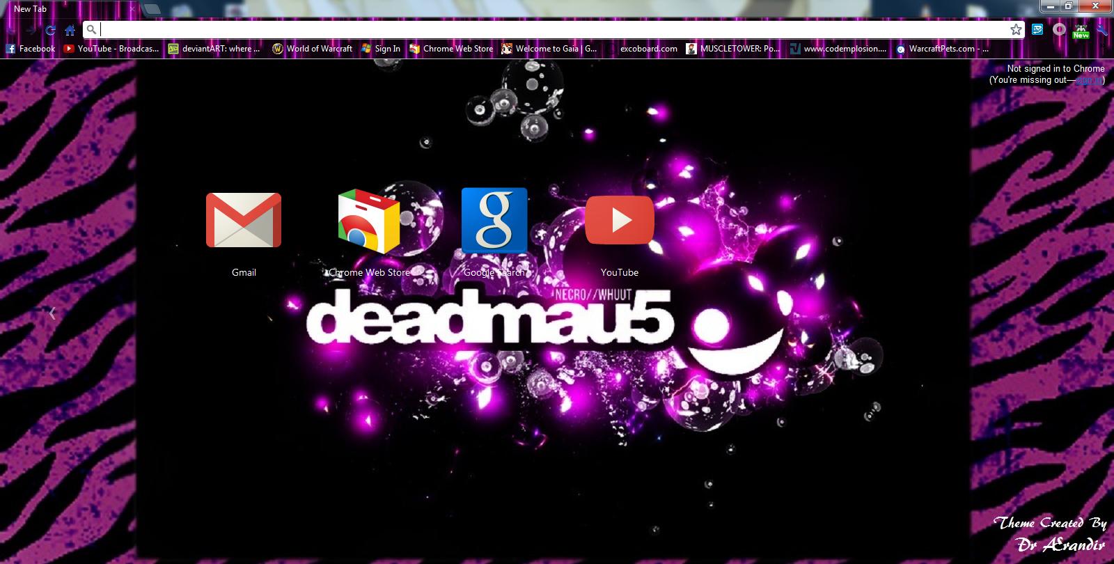 Gmail theme missing -  Purple Deadmau5 Chrome Theme By Sonny Skrillex Moore