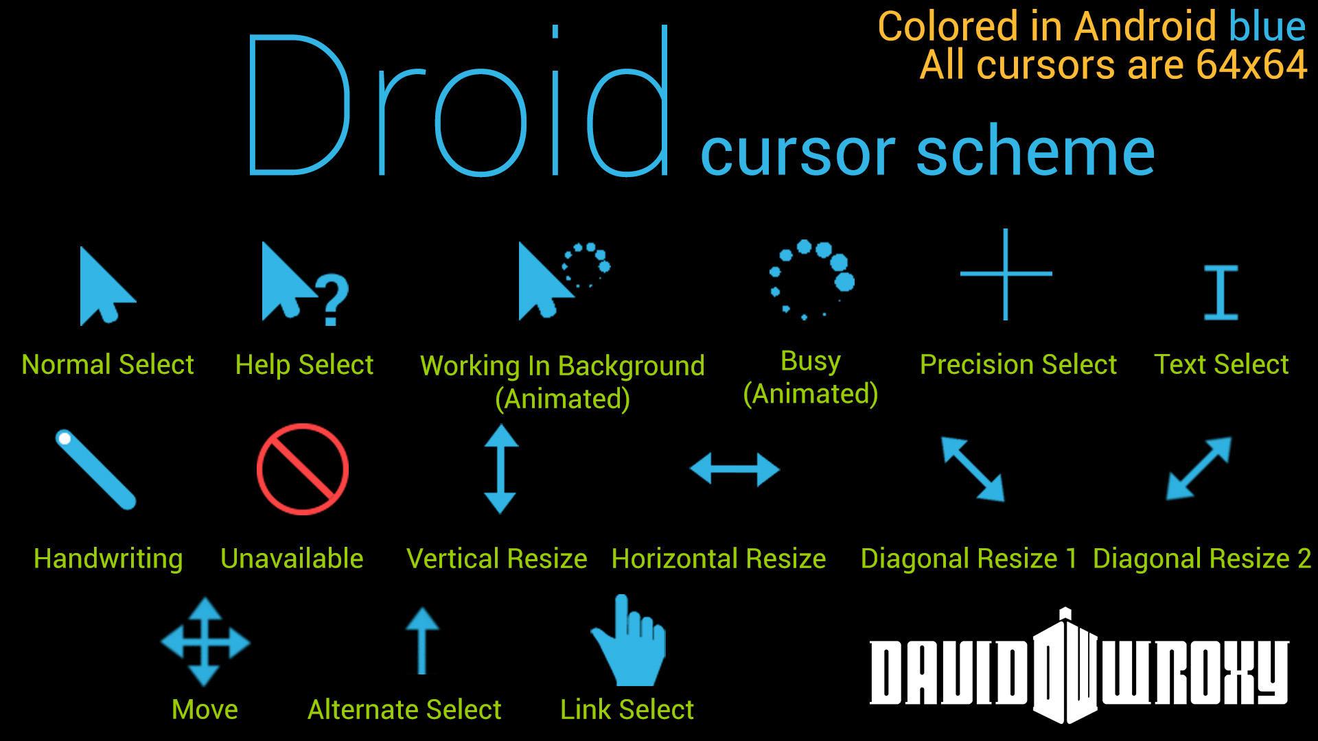Droid Cursor Scheme By