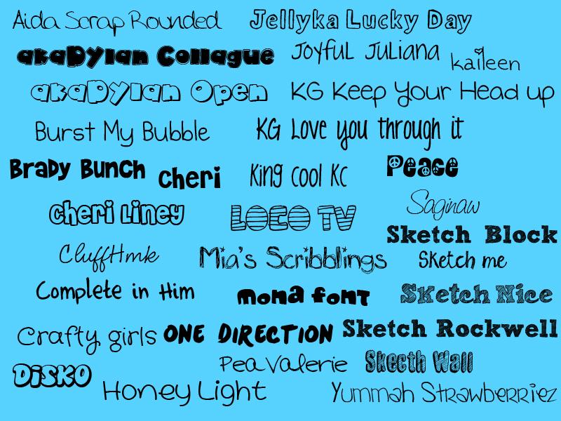 Fonts by AlwaysSmileForYou on DeviantArt