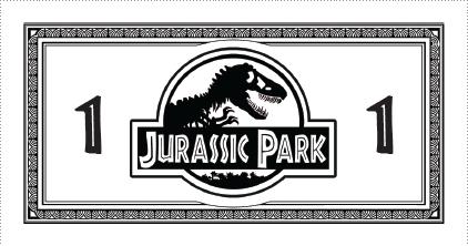 Jurassic Park Monopoly Money (Updated) by Eschenfelder