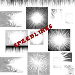 Manga Speedlines Brush PS7 by ShinigamiNoAkui