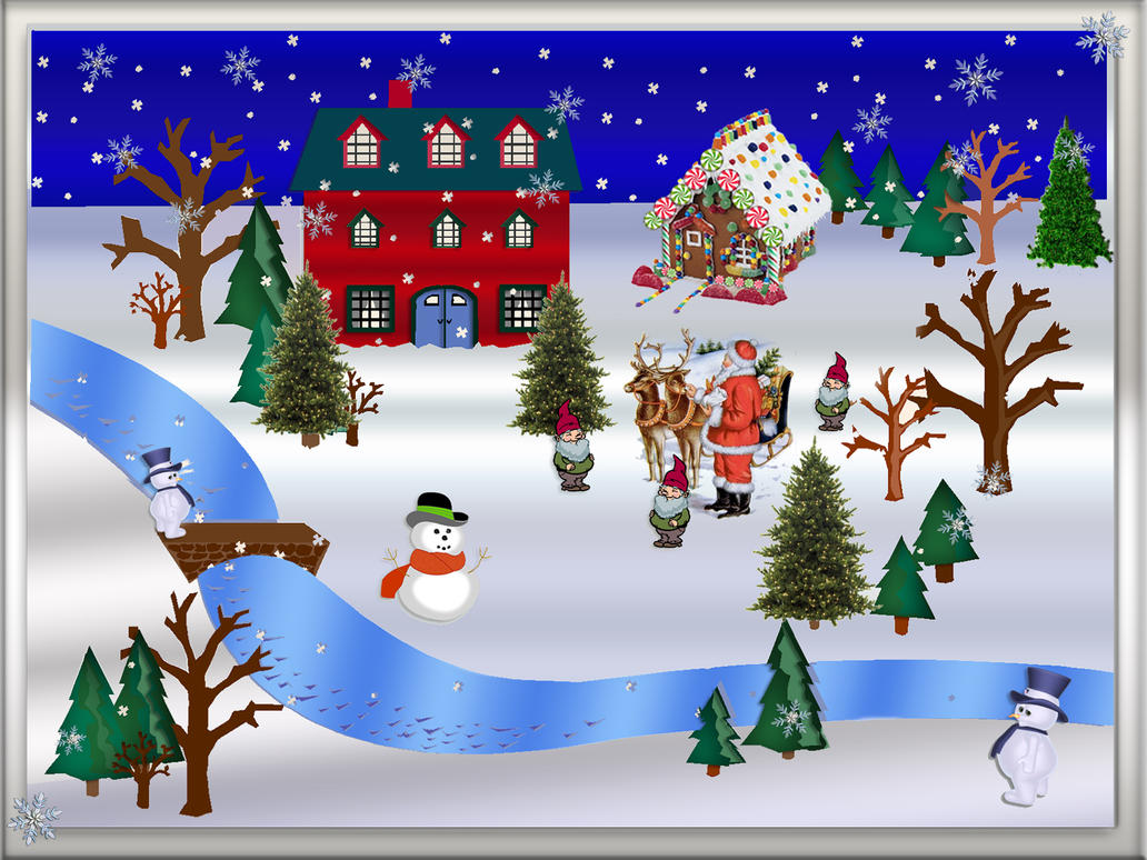 christmas snow scene by frankief on deviantart rh frankief deviantart com christmas winter scenes clipart christmas scenes clipart