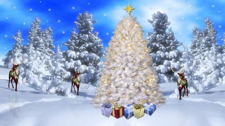 Wilderness Christmas White by Frankief