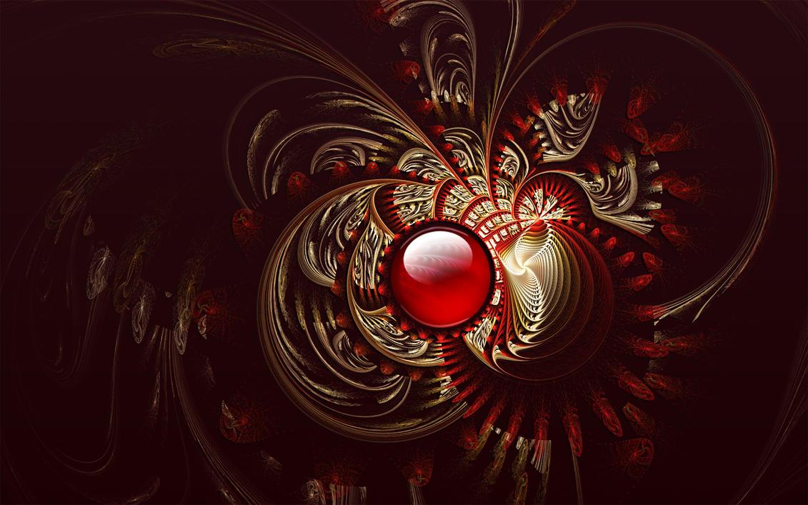 Red Brocade by Frankief