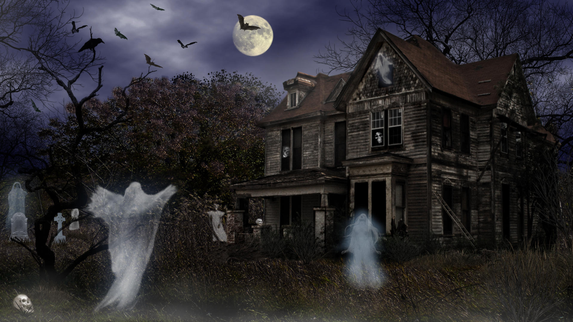 Halloween Haunted Mortuary by Frankief