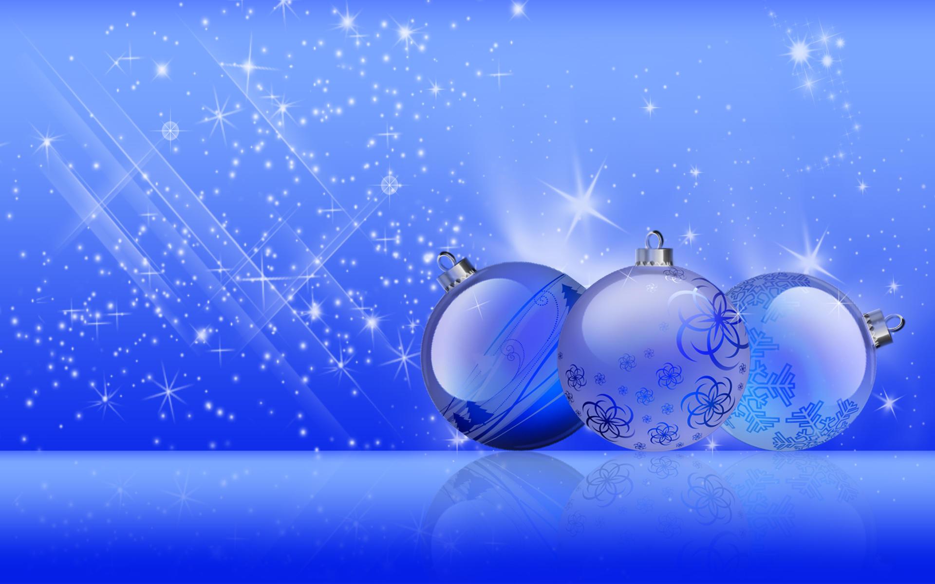 Christmas Blue Shine by Frankief