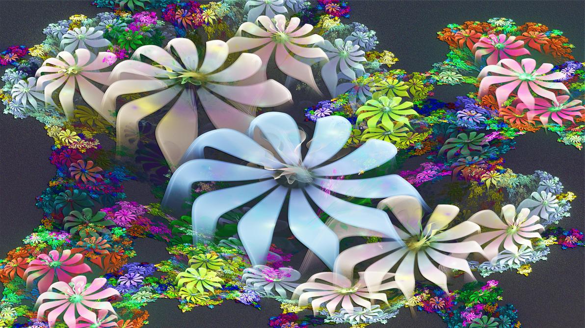 Flower Field by Frankief
