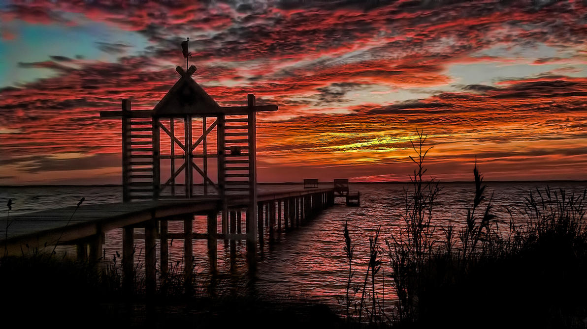 Hoffler Creek Sunset by Frankief