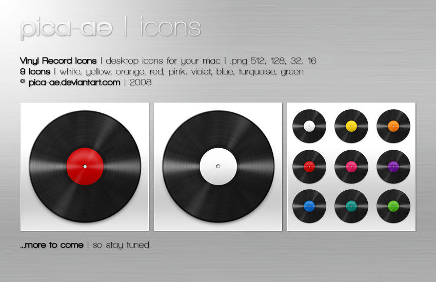 Vinyl Record Icons by pica-ae