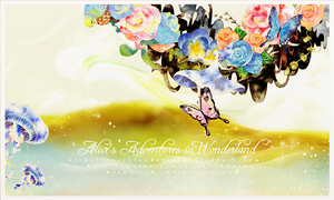 Alice's Adventures in Wonderland Psd flower png