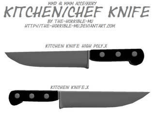 [MMD + M3 Accessory] Kitchen Knife + DL by The-Horrible-Mu