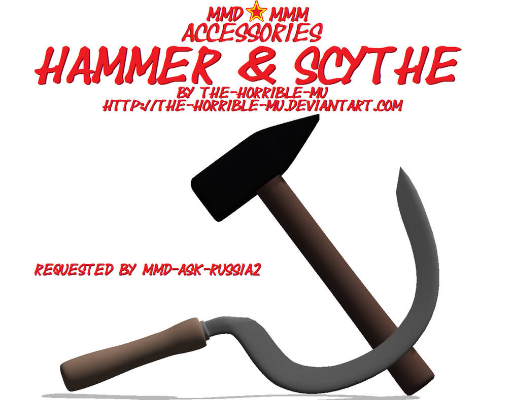 Mmd M3 Accessories Hammer And Sickle Dl By The Horrible Mu On