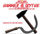 [MMD + M3 Accessories] Hammer and Sickle + DL
