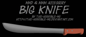 [MMD + M3 Accessory] Big Knife + DL