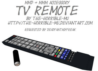 [MMD + M3 Accessory] TV Remote + DL