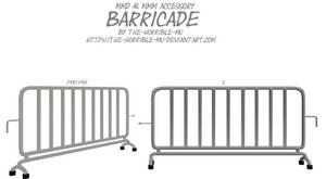 [MMD + M3 Accessory] Barricade NEW + DL