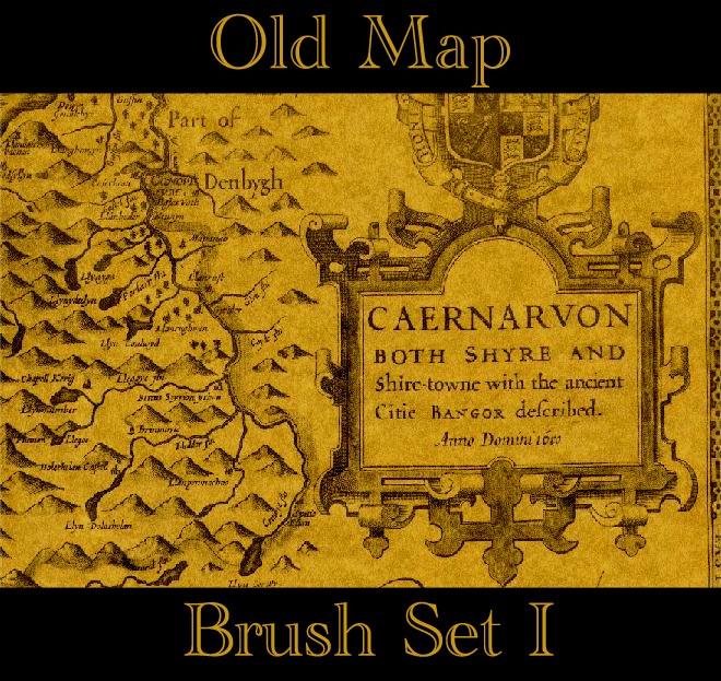 Old Map Brush Set I