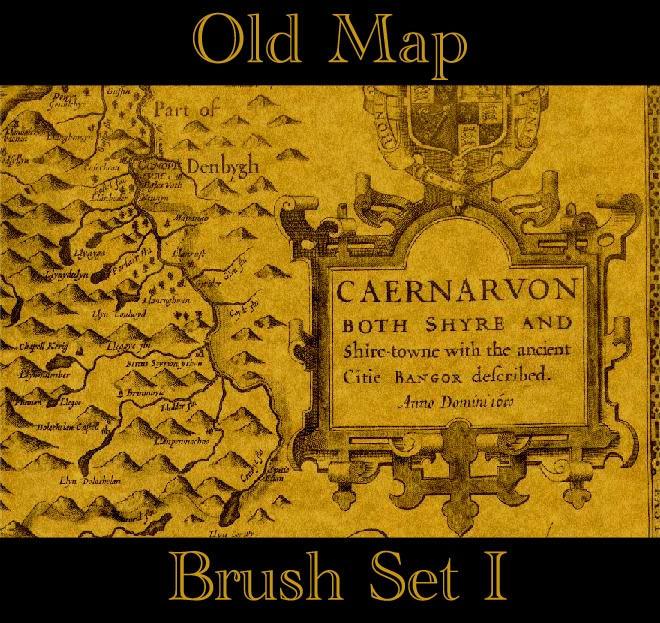 Old Map Brush Set I by chalchiuhtlicue