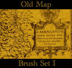Old Map Brush Set I