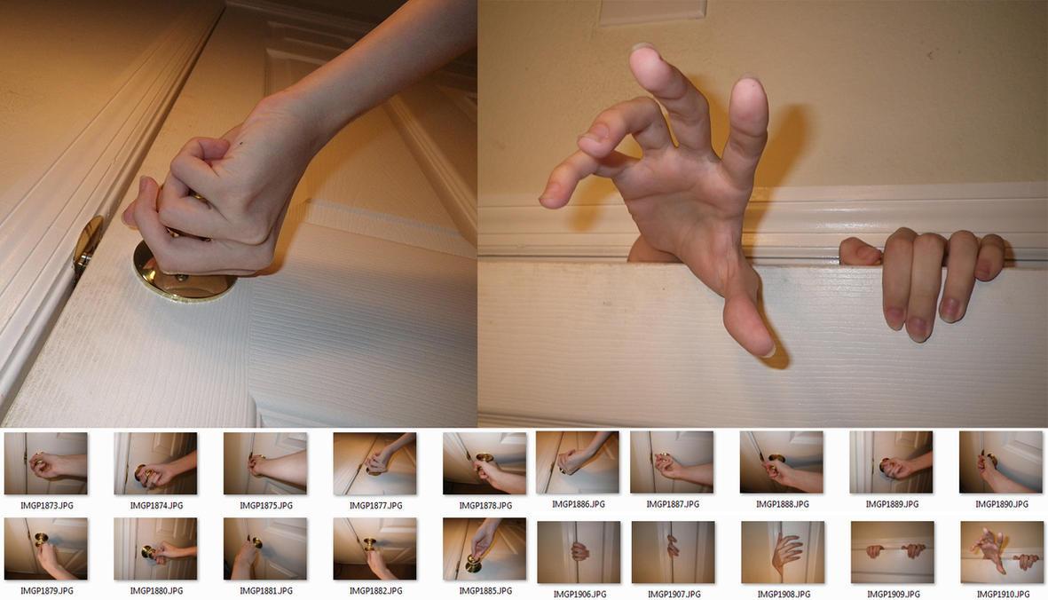 Fem!Hands 4 Stock (Door + Handle) by MostlyGuyStock