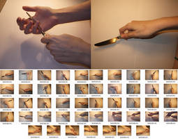 Fem!Hands 5 Stock (Knife) by MostlyGuyStock