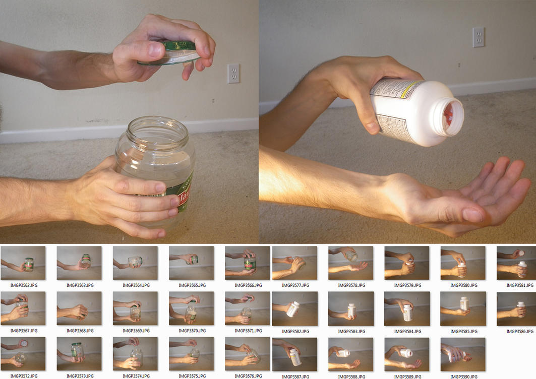 Male!Hands 6 Stock (Jar and Pill Bottle) by MostlyGuyStock