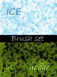 Brush set: Ice and Hedges