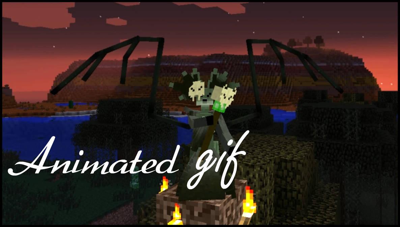 Minecraft Modification: Necromancer Delphox GIF