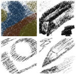 Pencils and charcoals brushes for Krita