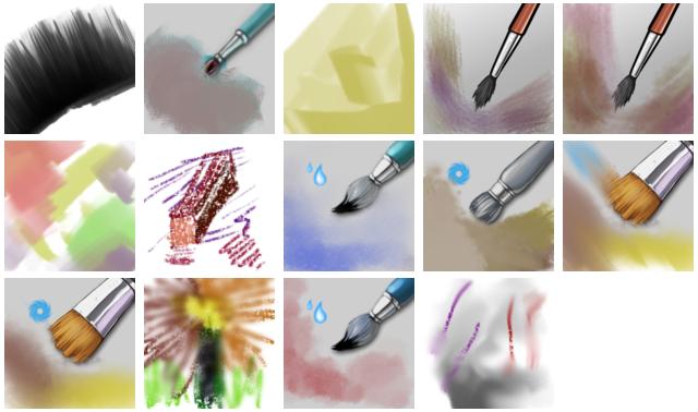 My watercolor (aquarel) brushes for Krita
