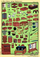 81 Free Vector Antique Kitchenware - Ukiyo-e SVG by hansendo