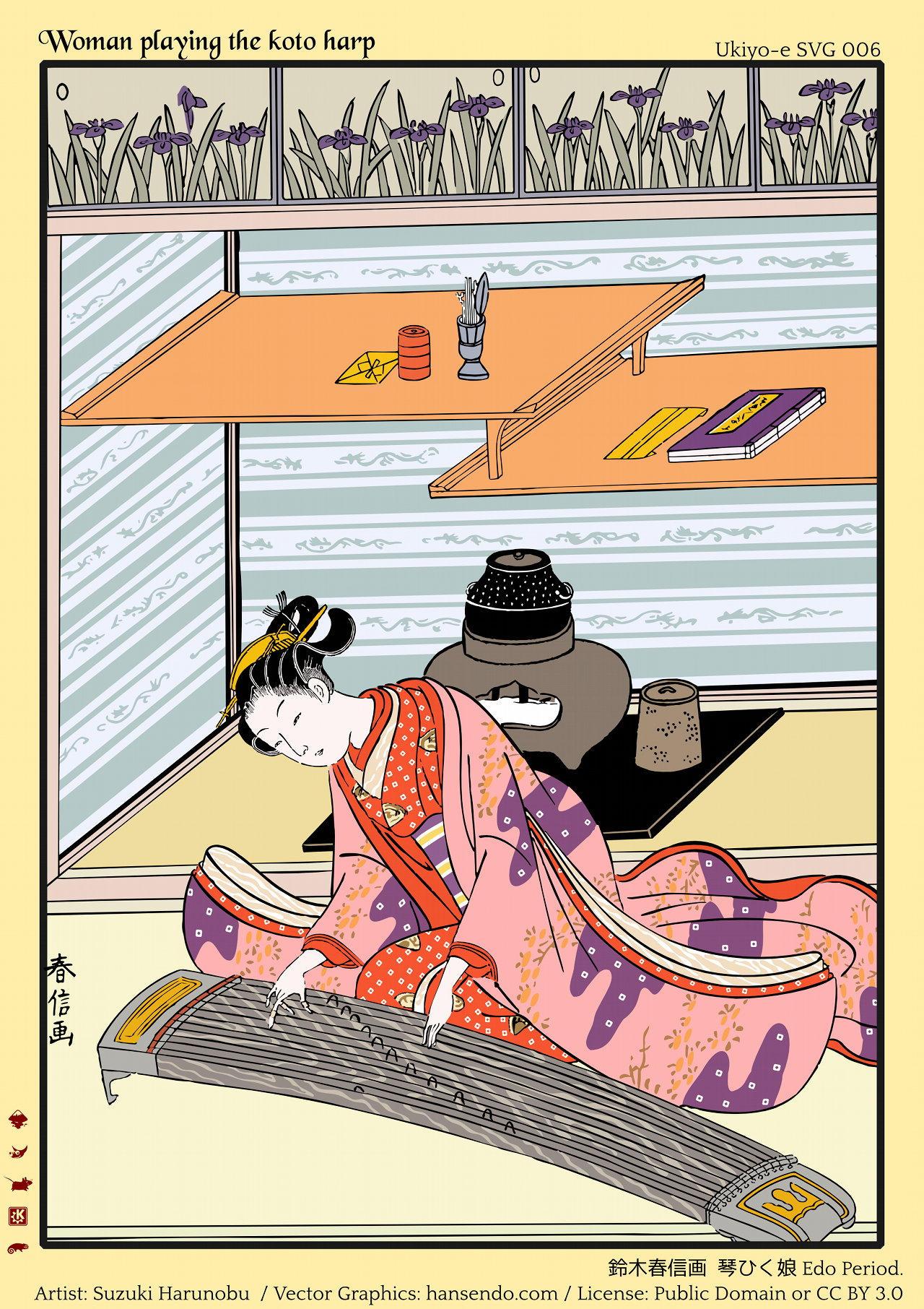 vector resources Ukiyo-e SVG No.006 by hansendo